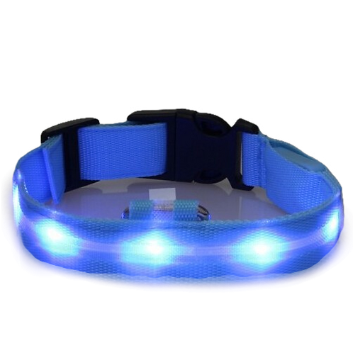 LED hondenhalsband - verstelbaar