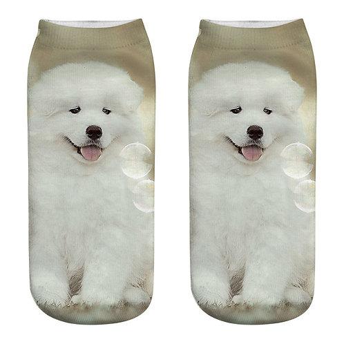 Samojeed puppy print sokken