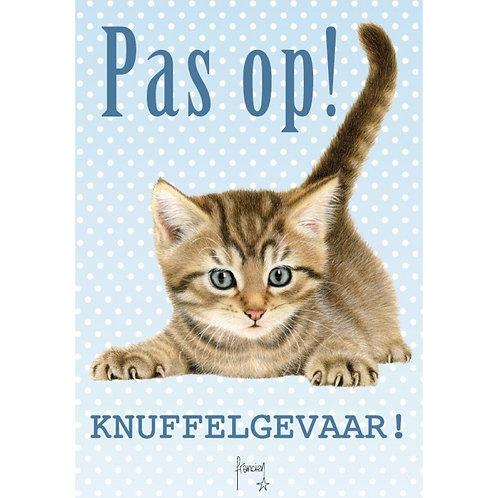 Kitten waakbord - Pas op knuffelgevaar