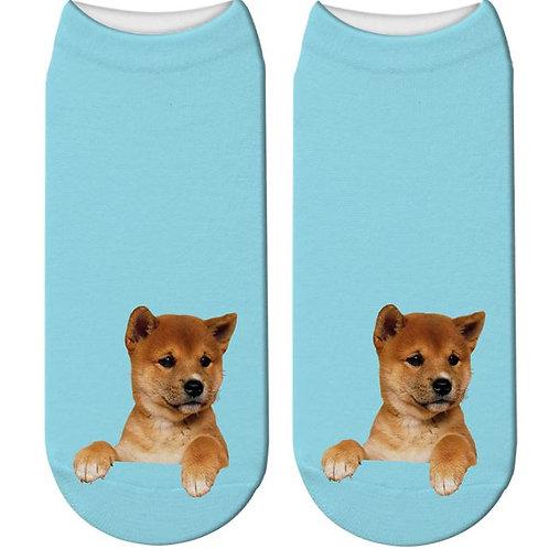 Shiba/Akita Inu print sokken