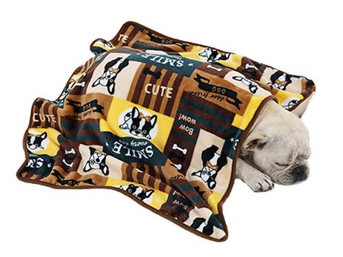 Soft pet blanket - French bulldog