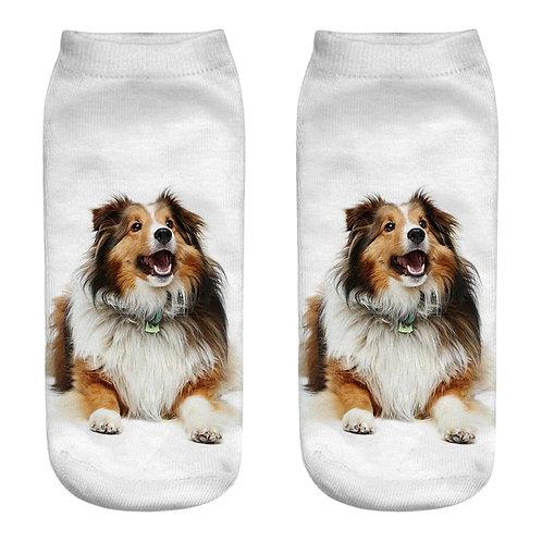 Collie print sokken
