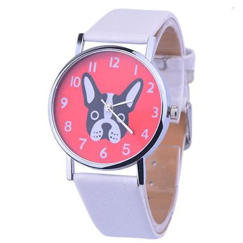 Horloge met grappige Franse Bulldog afbeelding