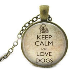 Ketting Keep calm and love dogs