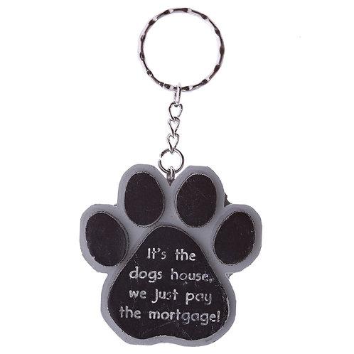 Dierenliefhebber sleutelhanger in tasje - It's de dogs house we just pay...