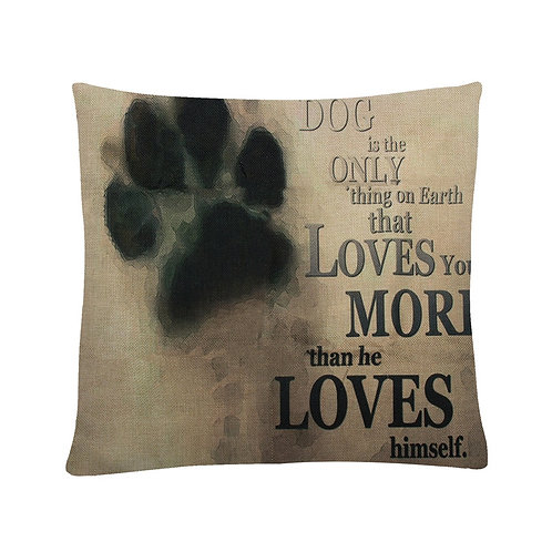 Dog loves you… print kussenhoes