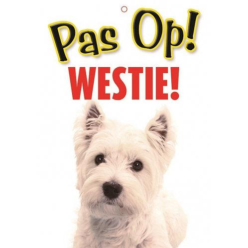 Honden waakbord pas op Westie