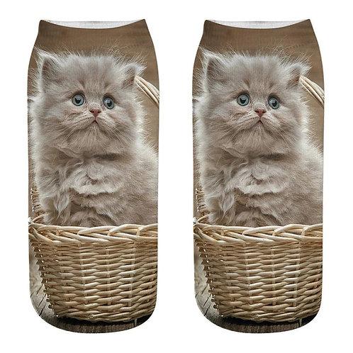 Persian kitten print sokken