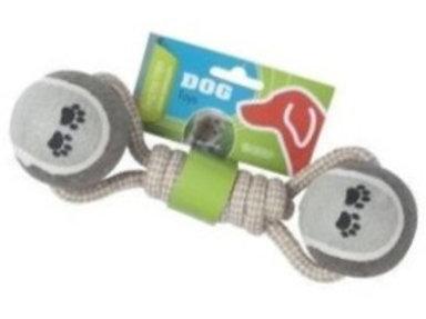 Hondenspeelgoed touw met 2 ballen
