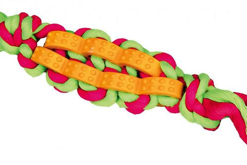 Trixie twisted stick - hondenspeelgoed met touw met natuurrubber