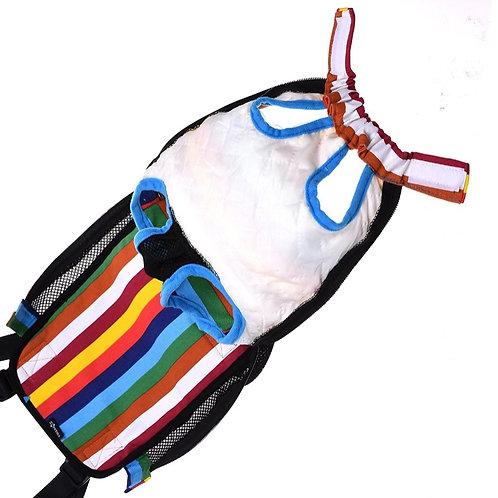 Gekleurde hond draagtas