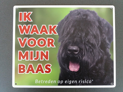 Waakbord hond - Bouvier