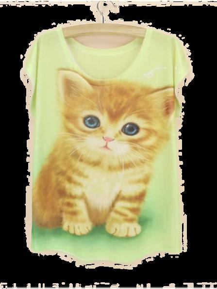 Kitten print t-shirt