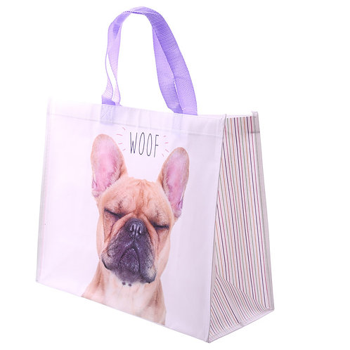 Franse Bulldog boodschappentas