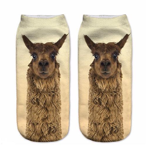 Alpaca print sokken