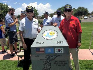 Dedication of the Korean War Memorial at Ft Bliss