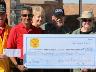 Vietnam War Memorial Committee Donates Extra Funds to Honor Flight of  Southern NM