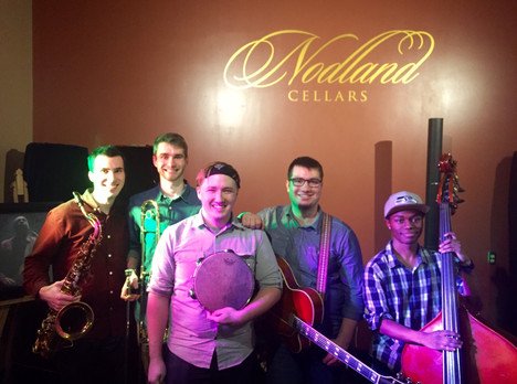 with Max Bennett, Jonathan Bumpus, Jansen Leggett and King Dawidalle