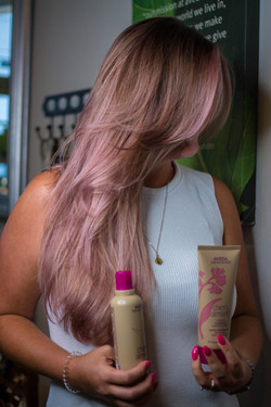 Rose Pink Hair Color