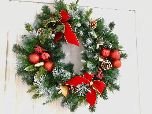 Vintage 60cm Diameter Christmas Wreath