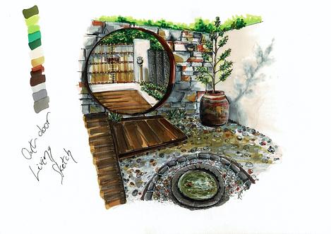 Outdoor Living Sketch Print