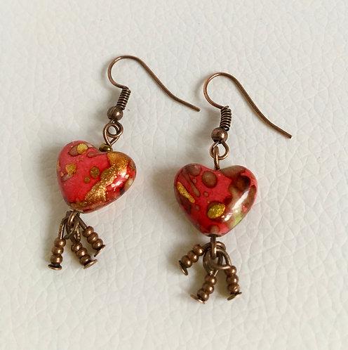 Painted Resin Earrings