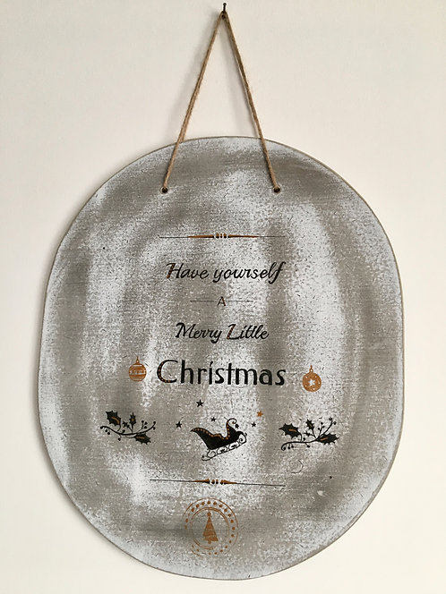 Decorative Christmas Sign - 'Have Yourself a Merry Little Christmas'