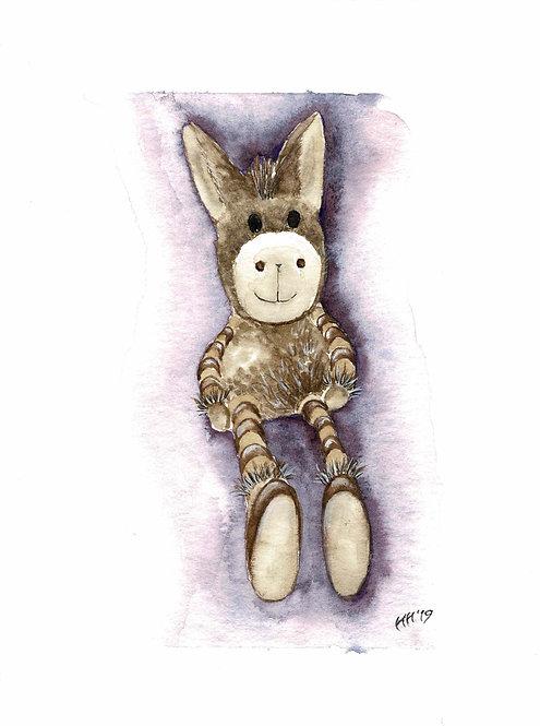 Donkey Watercolour Print