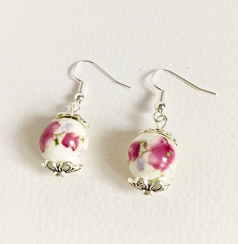 Painted Porcelain Earrings