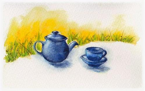 Teacups Watercolour Print