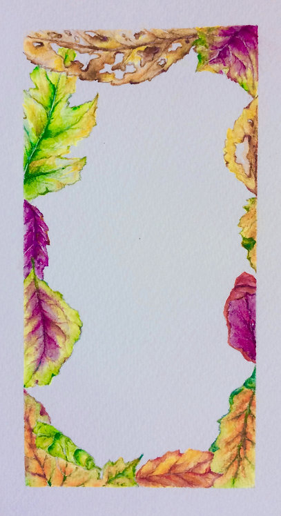 Autumnal Greeting Card Template