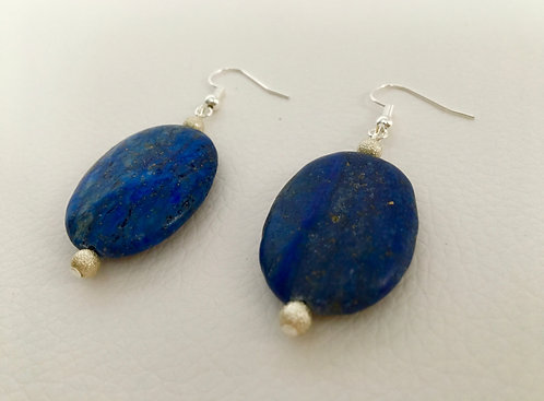 Semi-Precious Stone Lapis Lazuli Earrings