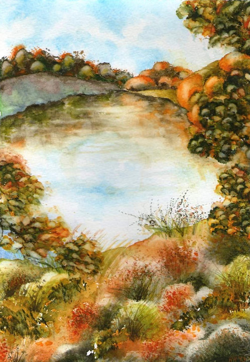 Autumn in Blenheim Watercolour Print