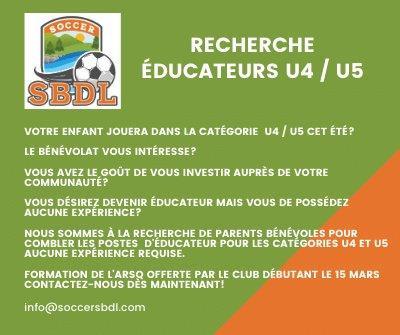RECHERCHE ÉDUCATEURS U4|U5