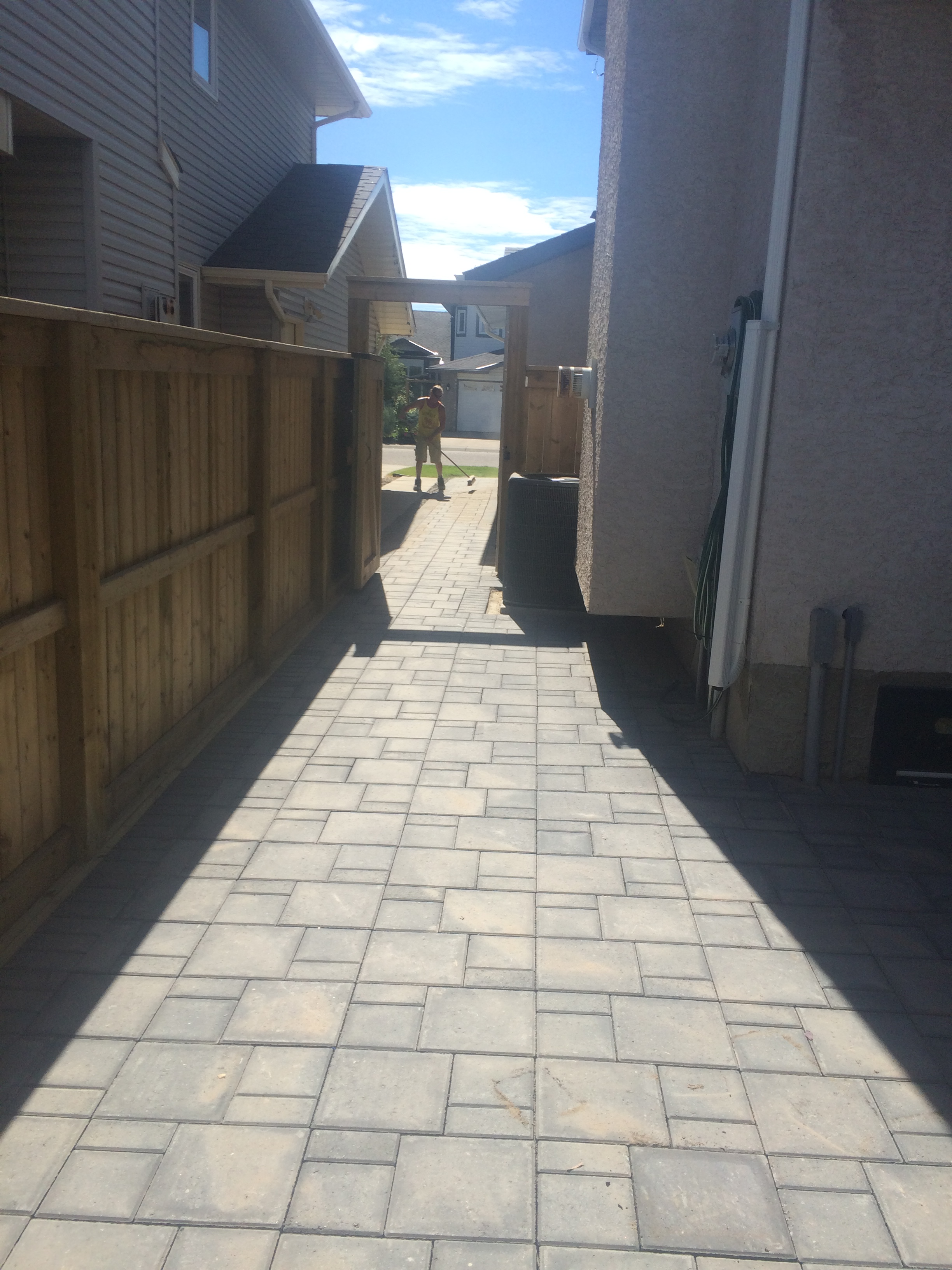 Paving stone walkway and patio.