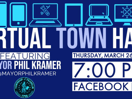 Mayor Kramer to Hold Virtual Town Hall