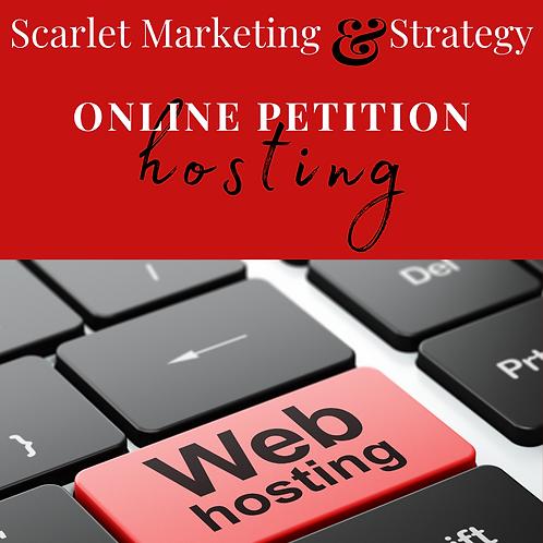 Online Petition Hosting