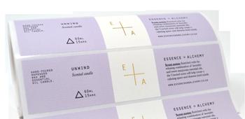 Foil Candle Labels - Crown Labels