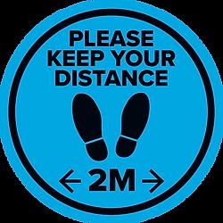 2m Distance Floor Sticker
