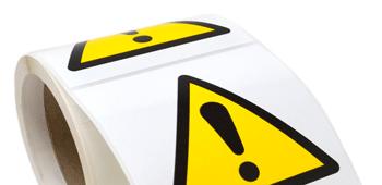 Automotive Hazard Labels - Crown Labels