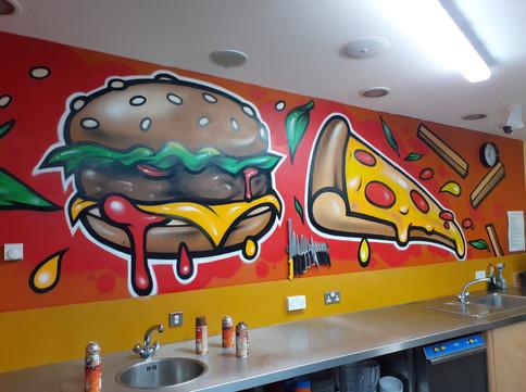 Junk food Mural. 2020