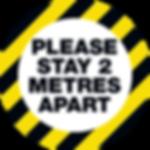 Hazard Stripe Floor Sticker