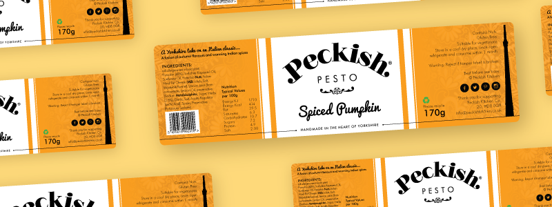 Orange Pesto Labels