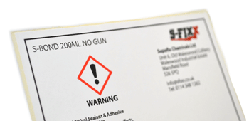 Warning Chemical Stickers - Crown Labels