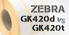 Zebra GK420d vs GK420t