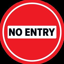 No Entry Floor Sticker