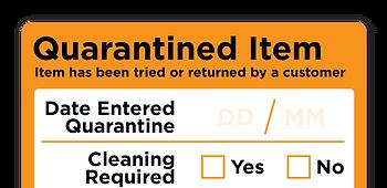 Quarantined Item Labels
