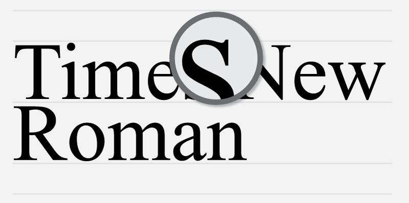 Serif Font Labels