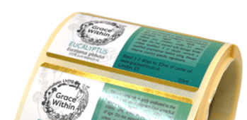Metallic Paper Labels - Crown Labels