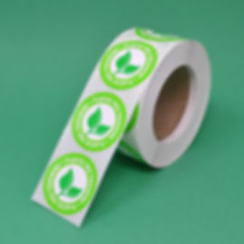 Biodegradable and Compostable Semi-Gloss Paper Labels